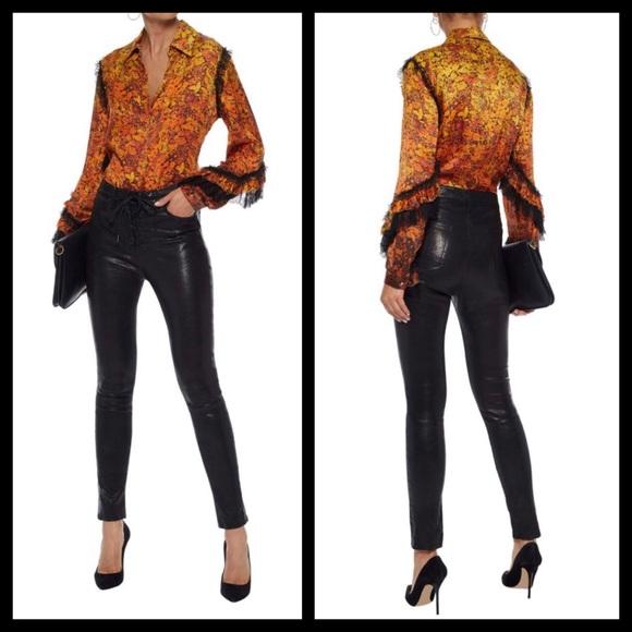 01cf8c7f98feb 😍SALE!😍Roberto Cavalli Silk Woven Blouse XS